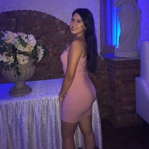 Pretty Little Thing light pink dress